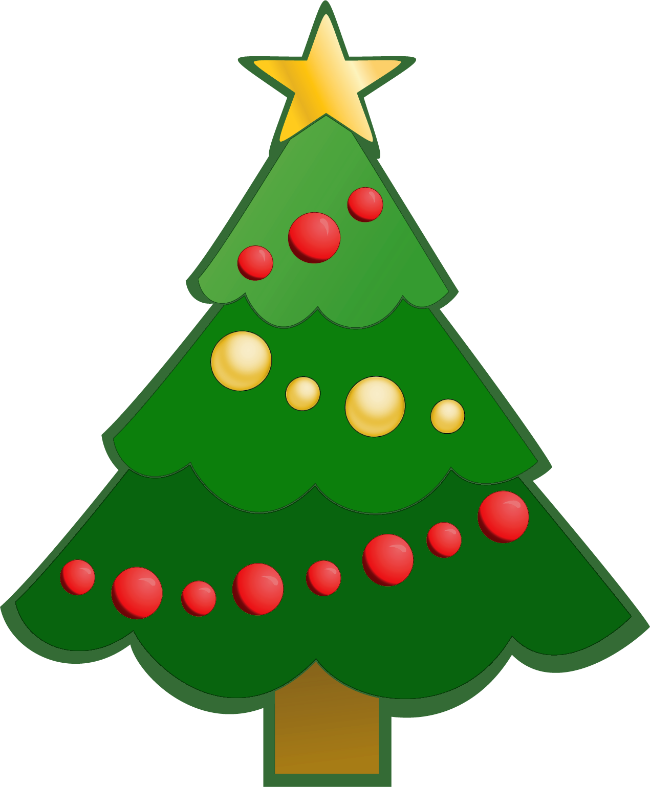 Simple pine tree png. Green christmas clipart gallery