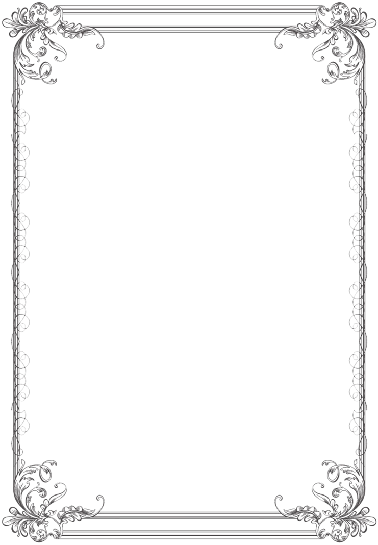 Simple vintage border png. Edited off of a