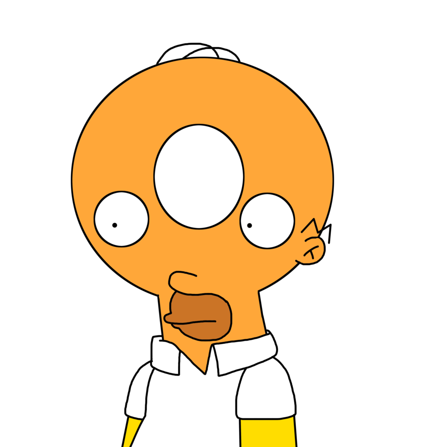 Simpson donut png. Homer with head by