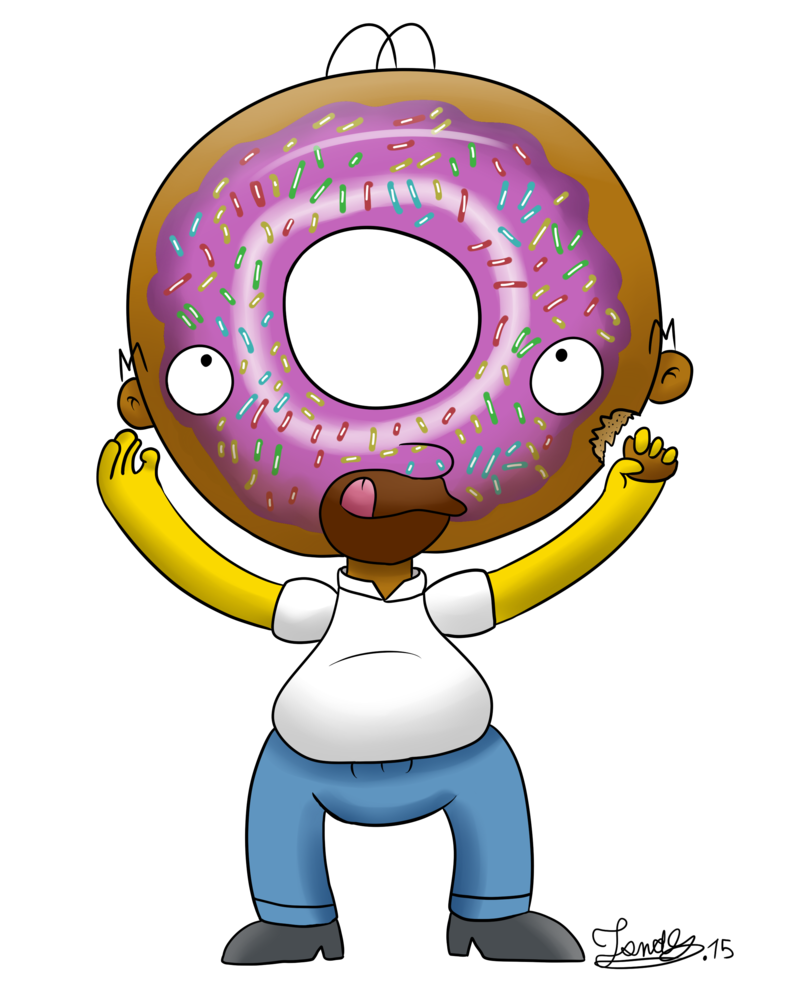 Simpson donut png. Homer simpsons donuts head