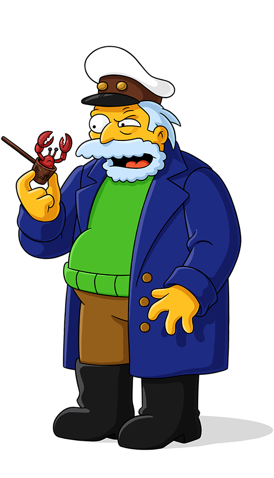 Simpsons captain png. Old sea world on