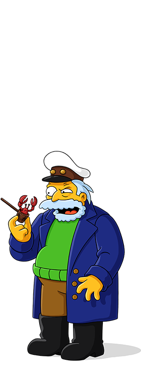 Simpsons captain png. Characters world on fxx