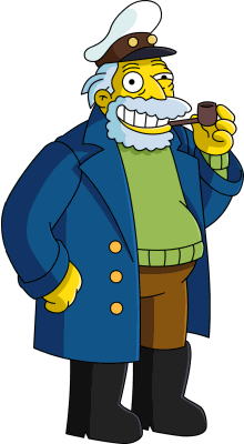 Simpsons captain png. Image the sea parody