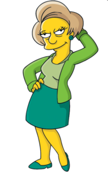 Simpsons transparent green. Edna krabappel wikipedia the