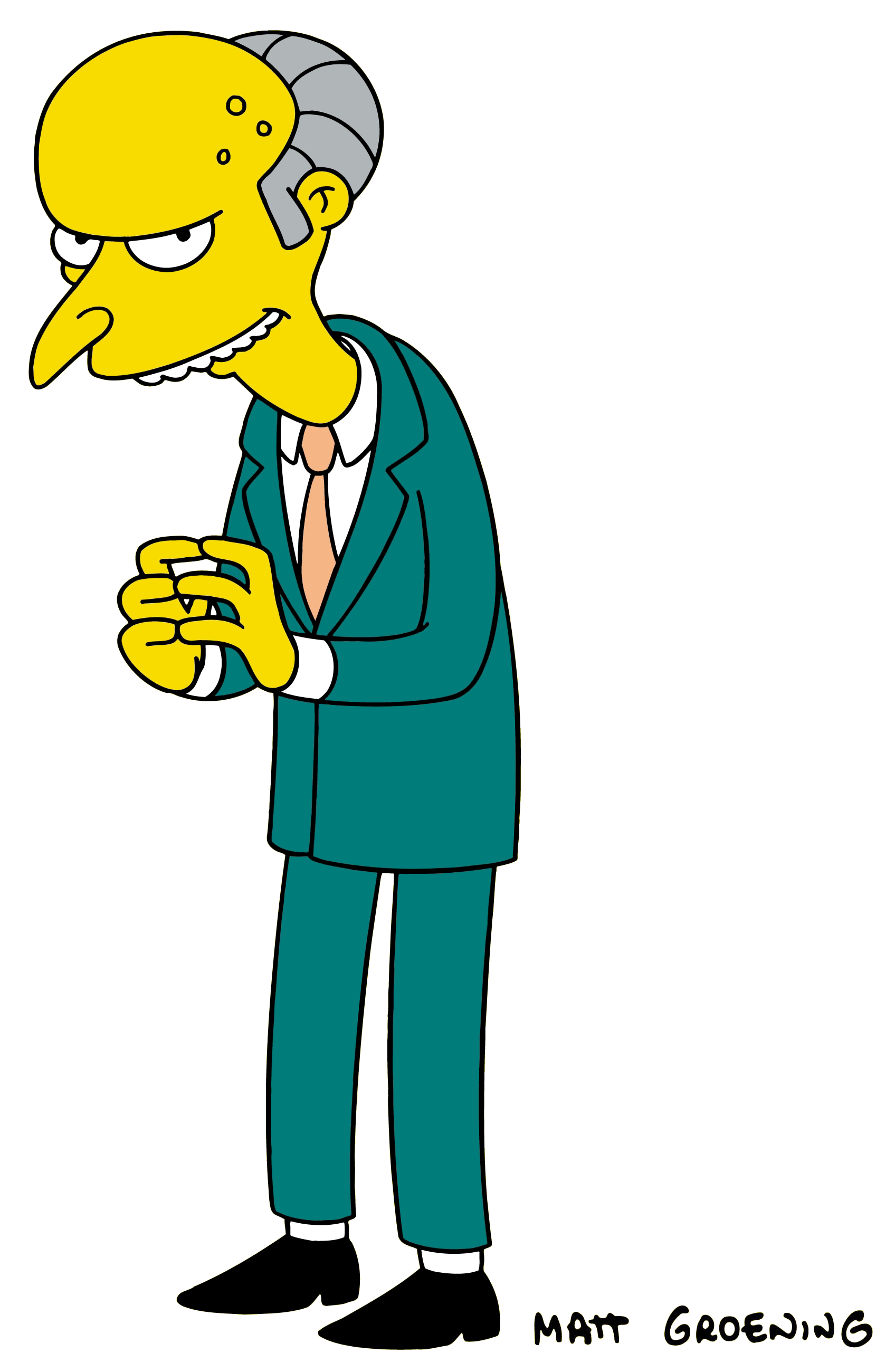 Simpsons characters png. Charles montgomery burns pinterest