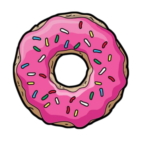 Simpsons donut png. Simpson shared by littlepinkykitten