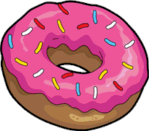 Simpsons donut png. There s donuts in