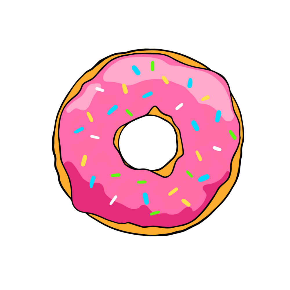 Simpsons donut png. Grizzby s biscuits and