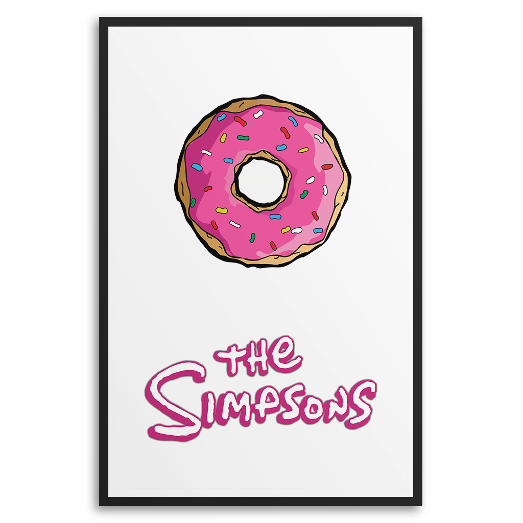 Simpsons donut png. The poster snooozeworks homers