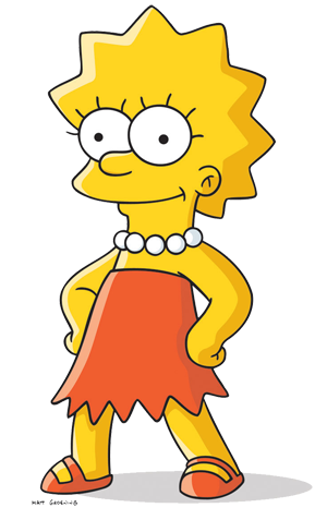 Bart drawing hood. Lisa simpson simpsons wiki