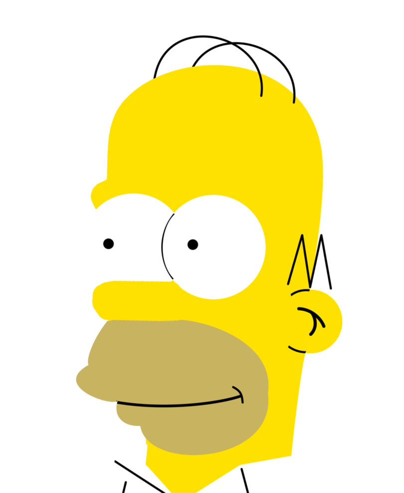 Homer drawing face. Simpson by simpsonsfan on
