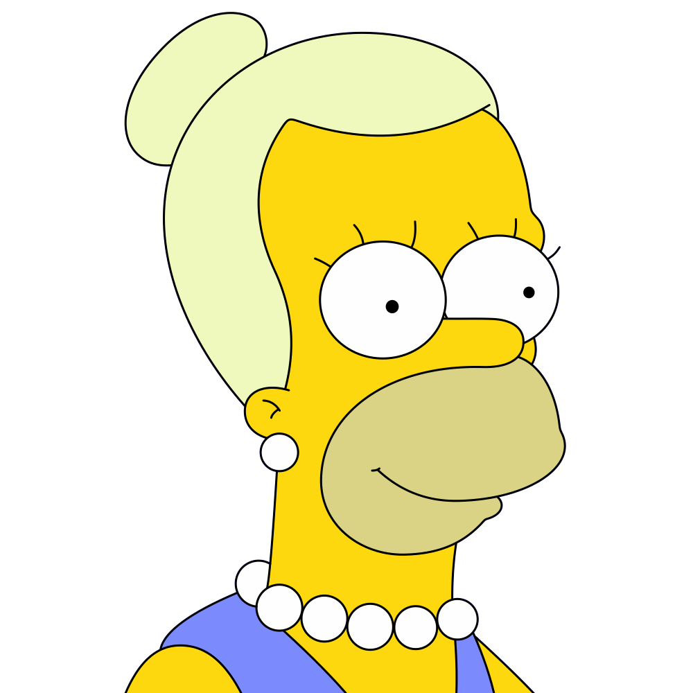 Image woman resembling png. Bart drawing homer simpson picture