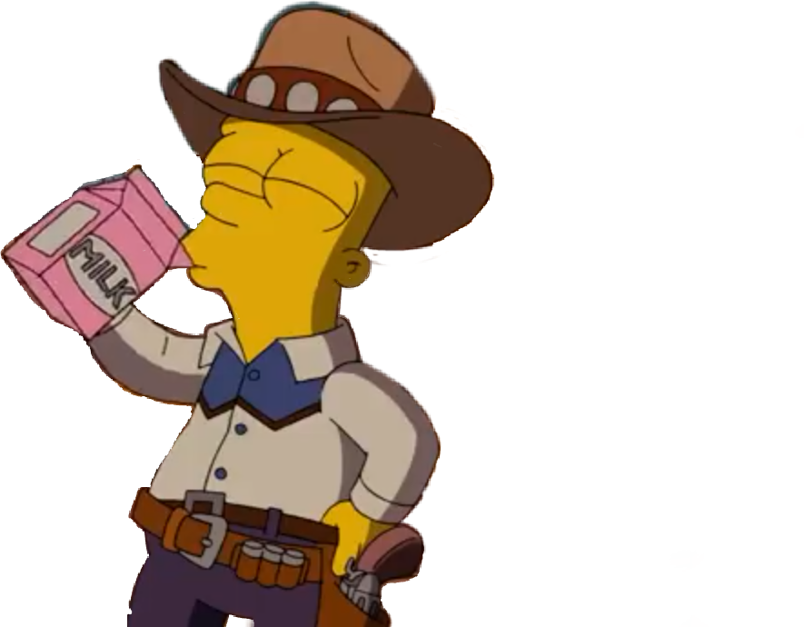 Simpsons transparent lit. Bark milk cowboy