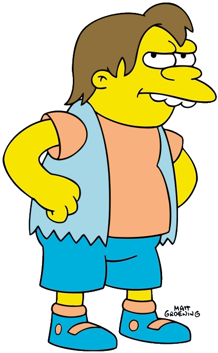 Simpsons drawing nelson. Muntz the my second