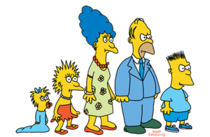 Simpsons drawing first. History of the wikipedia