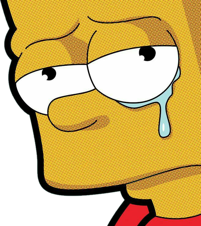 Simpsons drawing sad. Bartsimpson sticker by crasher
