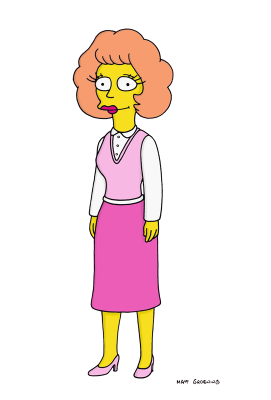 Simpsons drawing sad. Maude flanders s editorial