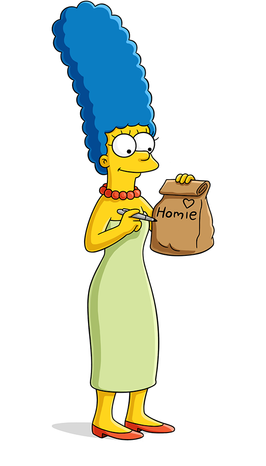Simpsons drawing simson. Marge simpson world on