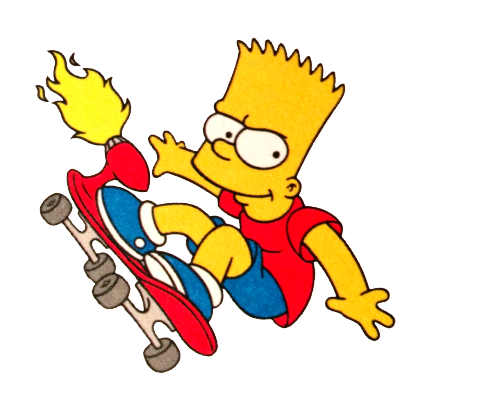 Simpsons gif png. Bart simpson transparency tumblr