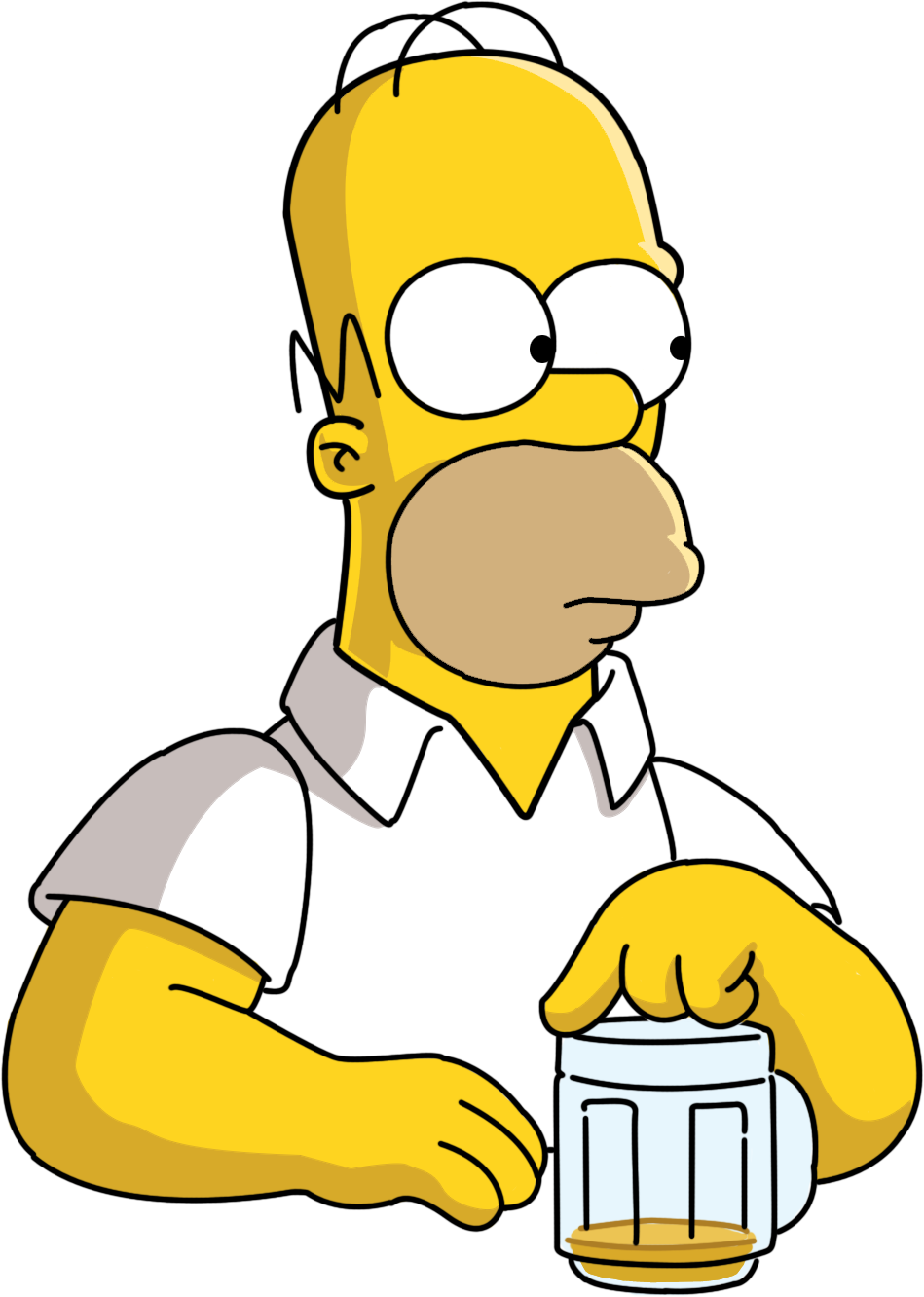Homer drawing face. Simpsons png image