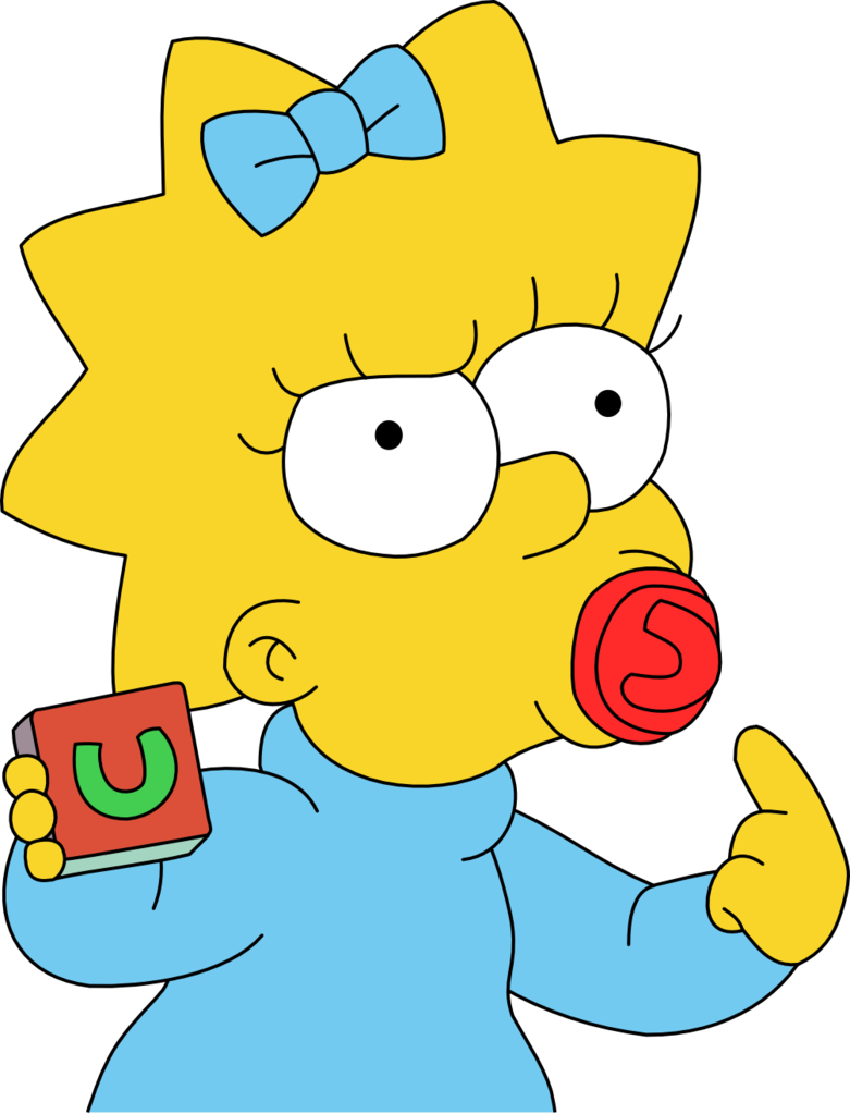 Simpsons maggie png. Simpson not amused with
