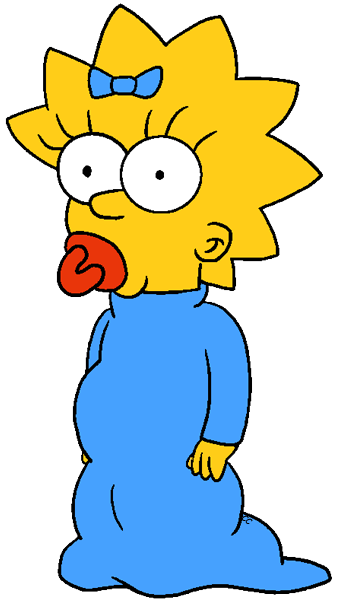 Simpsons maggie png. The clip art cartoon