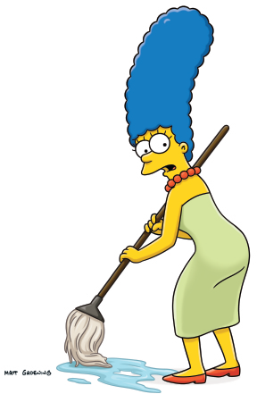 Simpsons marge png. Mopping the pinterest margemoppingpng
