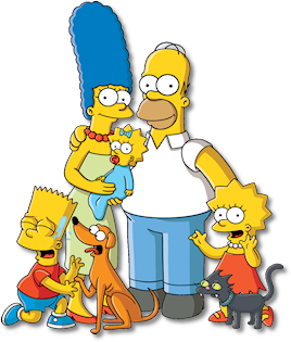 The wikisimpsons wiki familypicturepng. Simpsons png banner black and white download