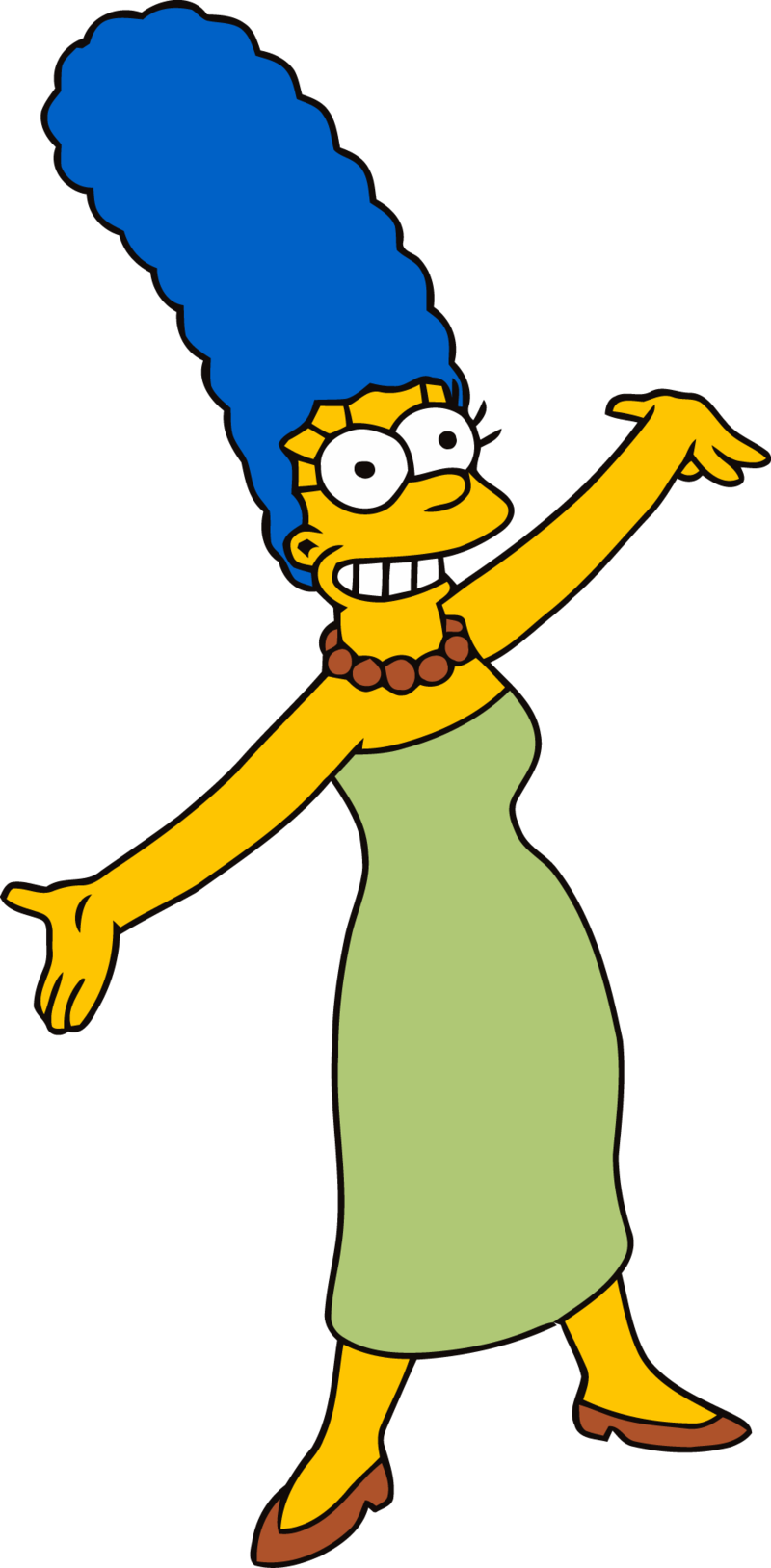 Simpsons transparent green. Download free png marge