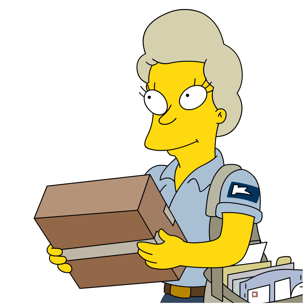 Female mail carrier wiki. Simpsons transparent camera clip art stock