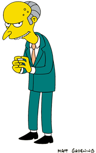 Simpsons transparent holmer. Mr burns wikipedia information