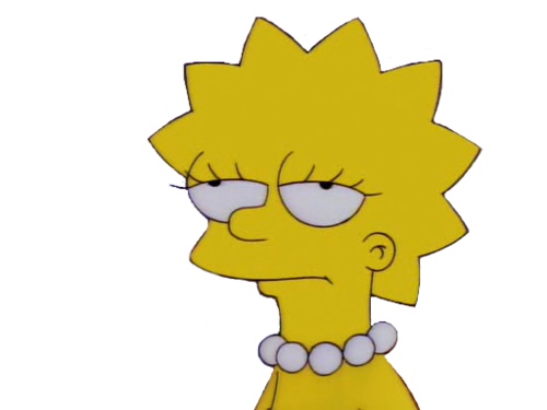 Tumblr png the simpsonslisalisa. Simpsons transparent rad banner library library