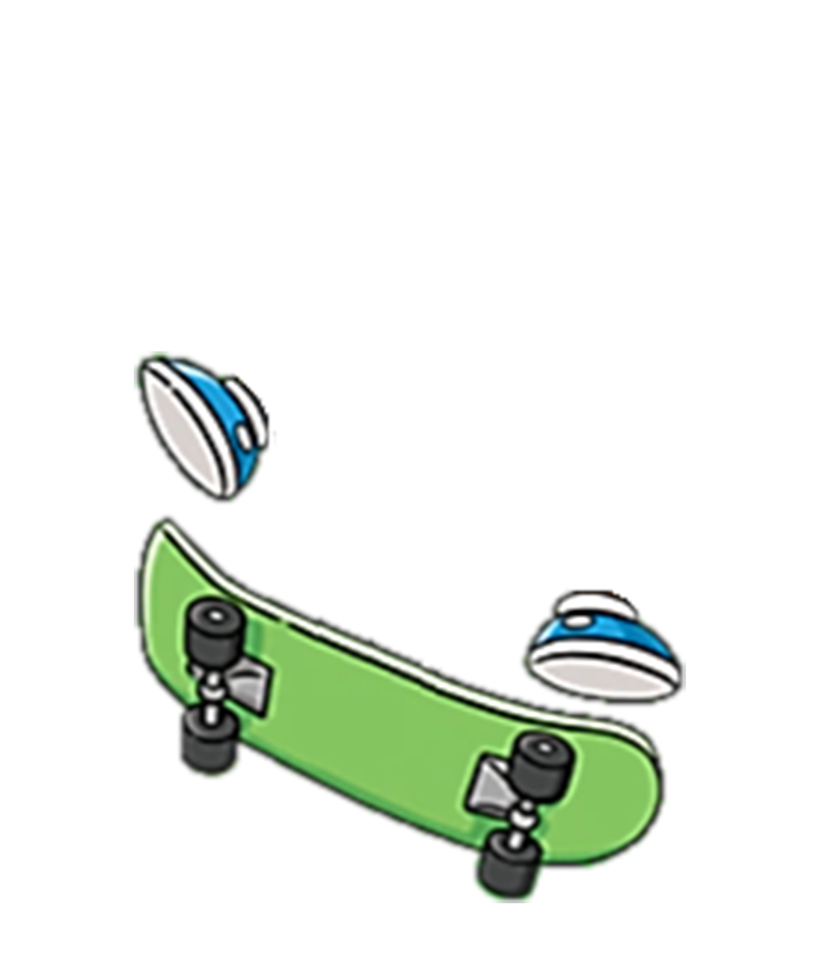 Simpsons transparent skateboard png. Invisible bart simpson skateboarding