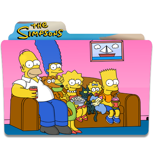 Simpsons tv png. The watching folder folders