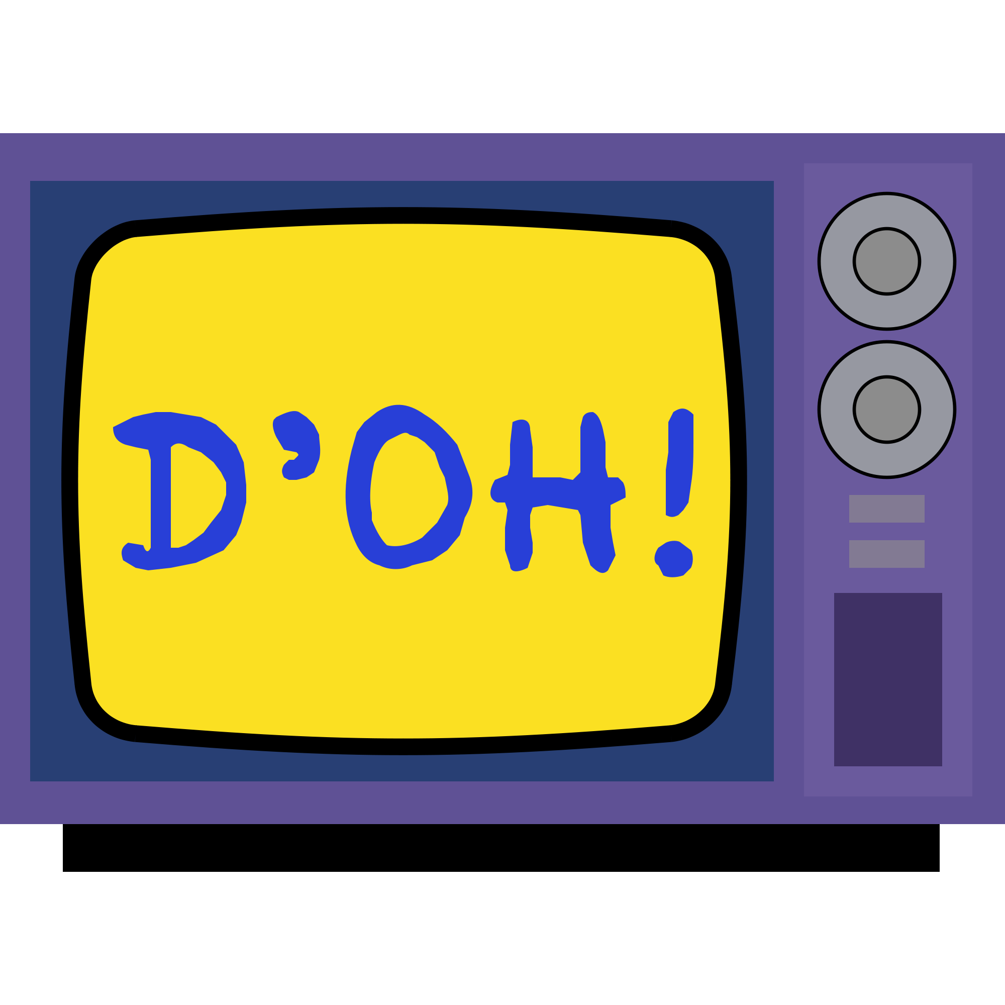 Simpsons tv png. File icon svg wikimedia