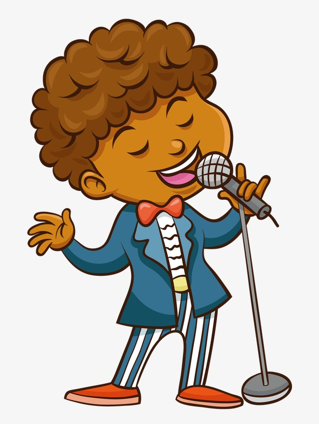 Sing clipart. A song boy black