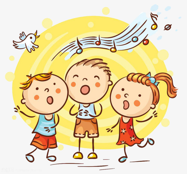 Sing clipart. Singing children s material