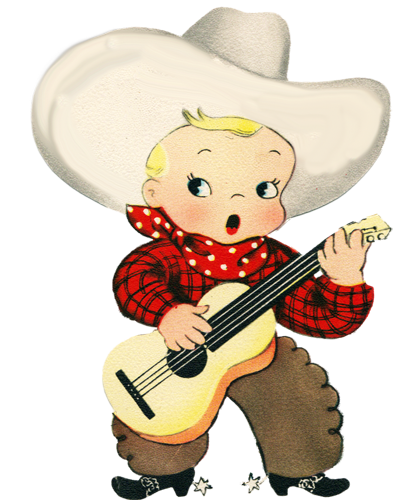 Sing clipart cowboy. Vintage valentine png illustrated