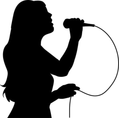 Singing clipart singer indian. With microphone png black