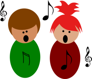 singing clipart playful kid