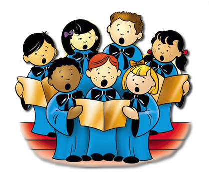 Sing drawing choir. Music ministry our lady