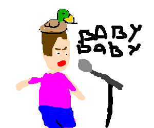 Sing drawing justin bieber. Singing with a duck