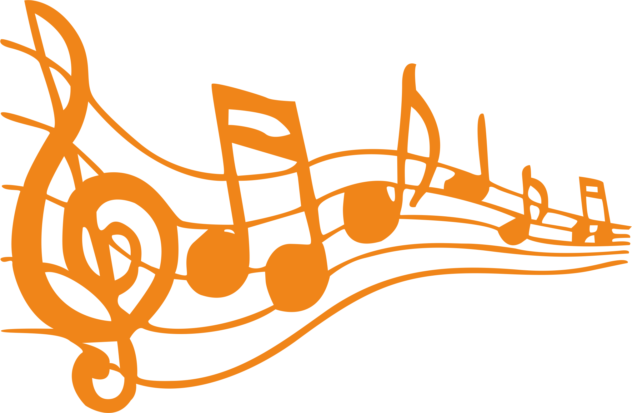 Sing drawing music notes. Musical note free content