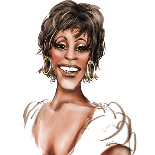 Sing drawing whitney houston. Clipart