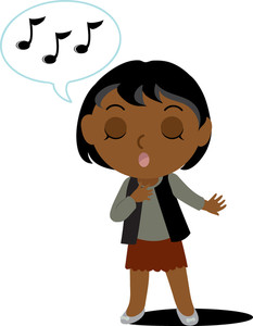Singer clipart. African american male
