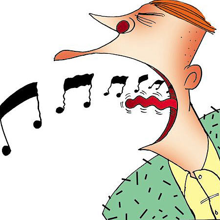 Singing clipart bad singing. Sickness the show must