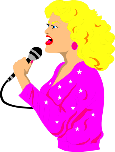 Singing clipart lady singer. Free cliparts download clip