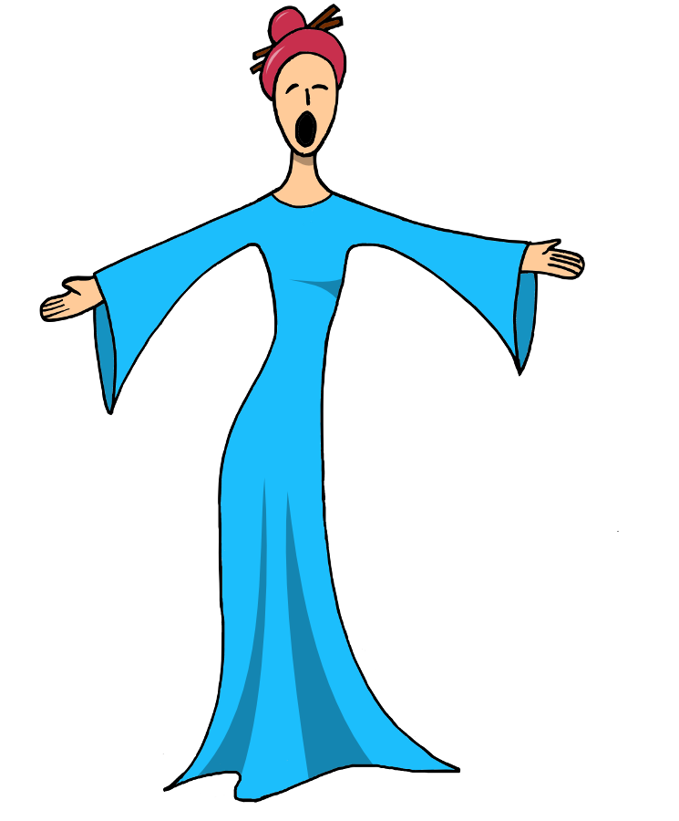 Singing clipart lady singer. Free female singers images