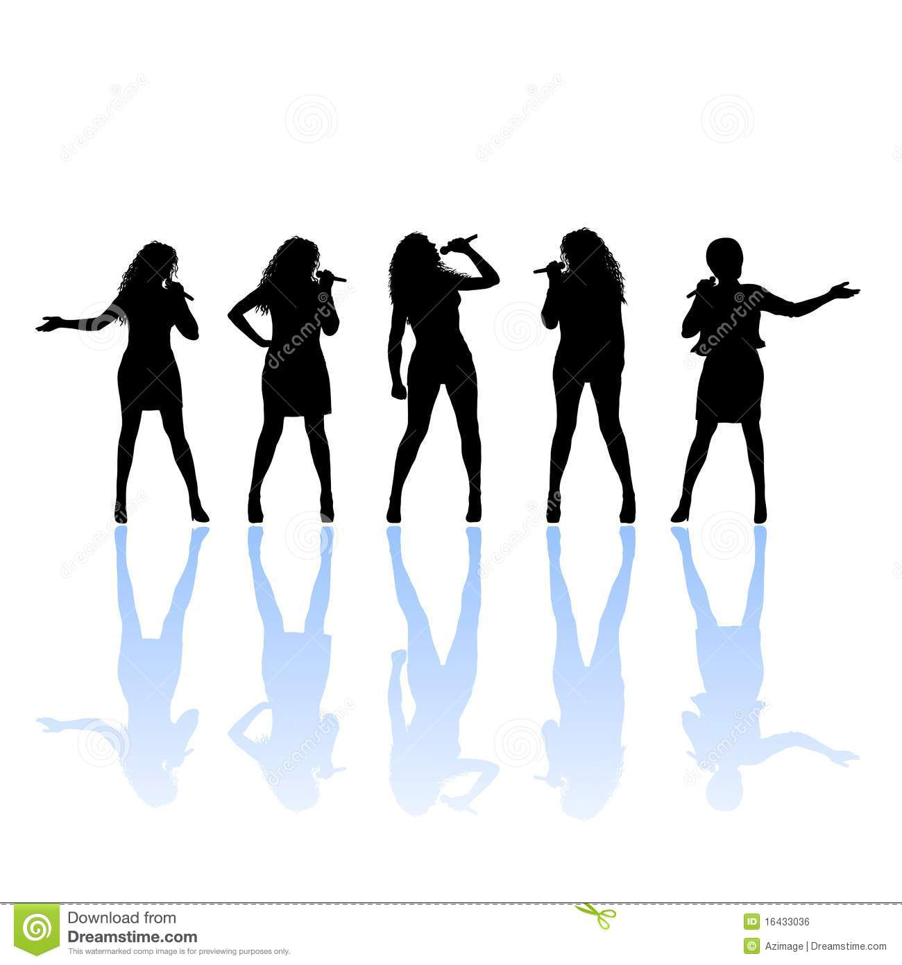 Singing clipart lady singer. Country silhouette at getdrawings