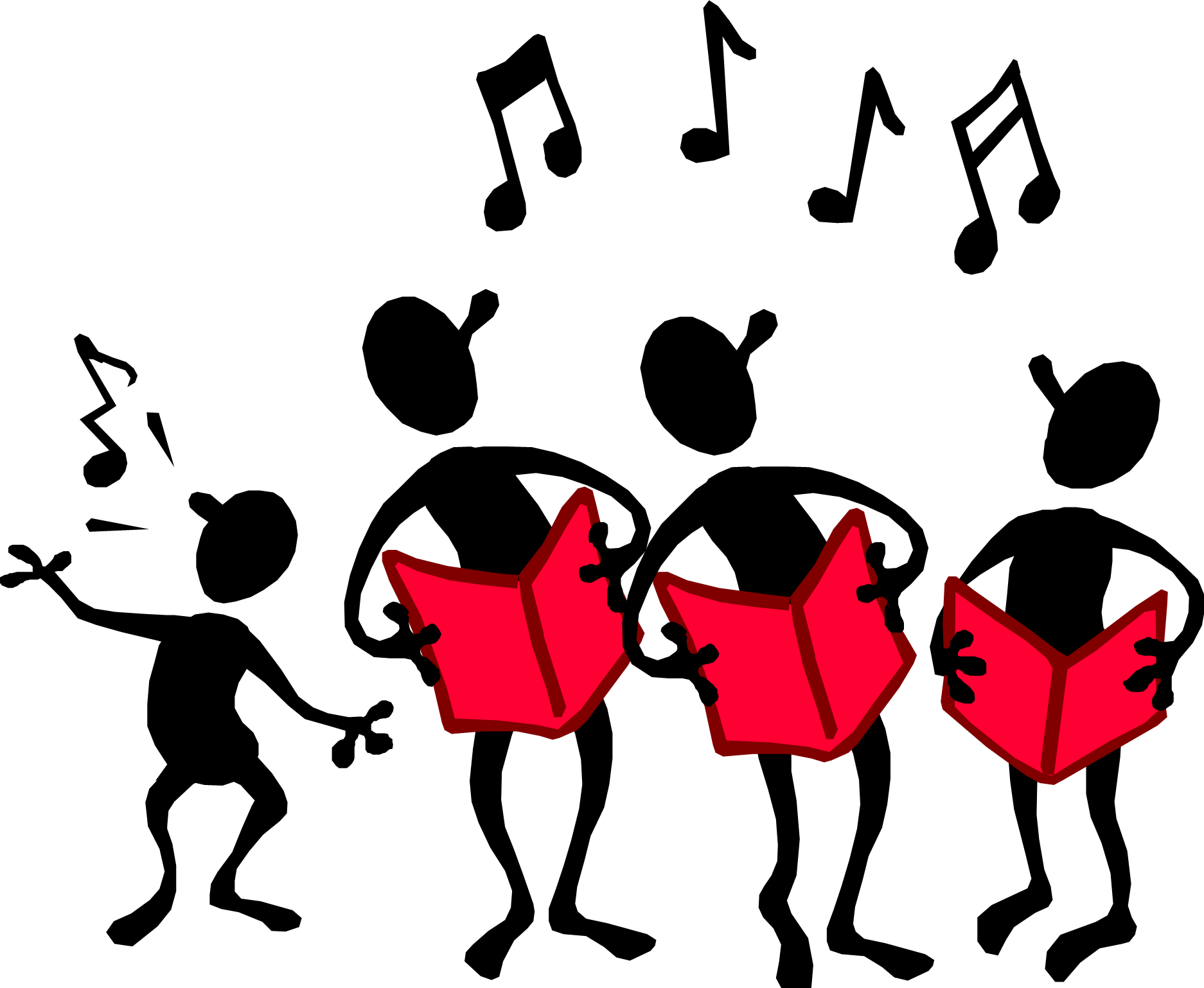 Singing. Person clipart images gallery